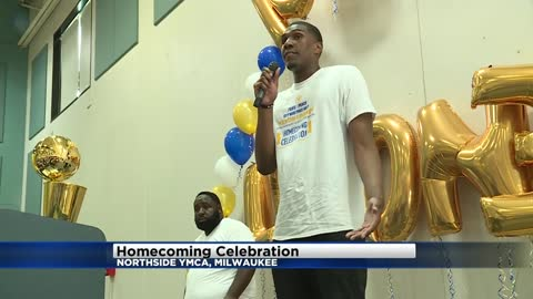 Homecoming celebration held at local YMCA for Milwaukee's own Kevon Looney