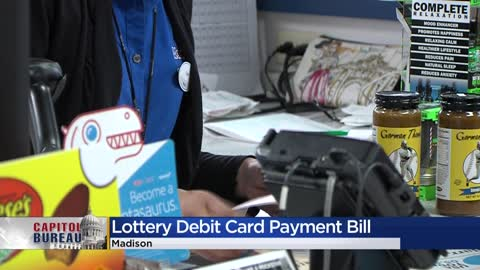 Bill circling would allow people to buy lottery tickets with debit cards