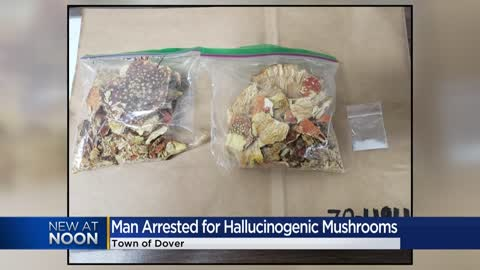 Man arrested for possession of hallucinogenic mushrooms, crystal...