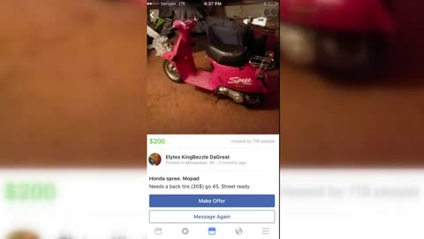 Man robbed at gunpoint after trying to purchase moped for son through Facebook Marketplace