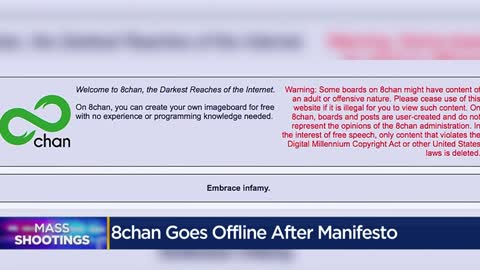 """By no means the only website:"" Message board used by El Paso suspect to post manifesto goes offline"