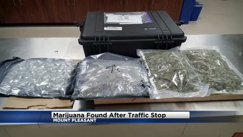 Chicago man arrested after four pounds of marijuana found during Mount Pleasant traffic stop
