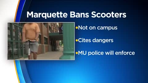 Marquette, UWM ban motorized scooters on campus property