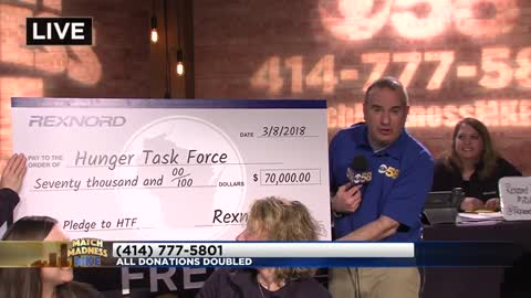 Match Madness MKE raises more than $57,170 for The Hunger Task Force, donations still being accepted