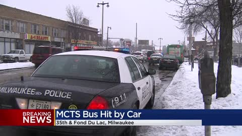 Car rear-ends MCTS bus near 35th and Fond Du Lac, one person...