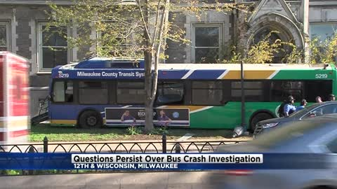 Questions persist over MCTS bus crash investigation near 12th and Wisconsin