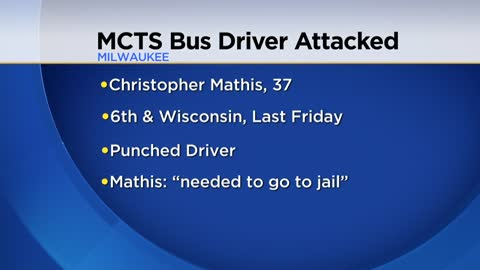Man charged with battery after hitting MCTS bus driver