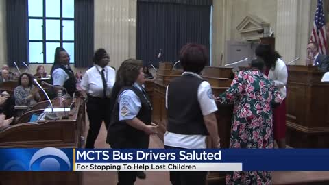 Seven Milwaukee County bus drivers honored for rescuing children
