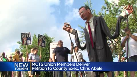 MCTS union members deliver petition to Milwaukee County Executive...