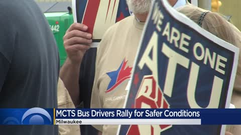 MCTS bus drivers hold rally pushing for safety