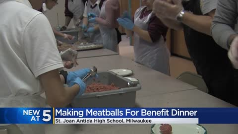 Volunteers prepare thousands of meatballs for annual 'Spaghetti with the Sisters'