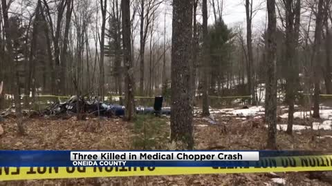 UPDATE: Three flight crew members dead after medical helicopter crash in northern Wisconsin