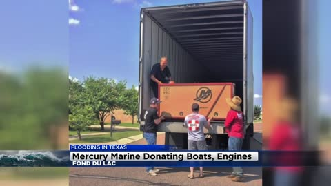 Mercury Marine in Fond du Lac donates boats and engines to Harvey relief