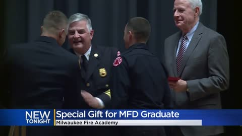 Milwaukee Fire Academy graduate receives special gift