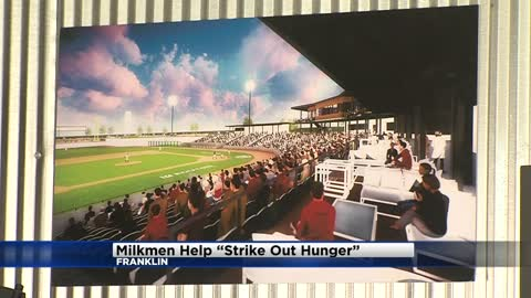 Milkmen help Hunger Task Force 'Strike Out Hunger'