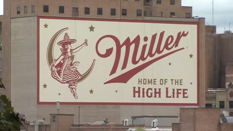 New mural hangs over brewhouse building in Miller Valley
