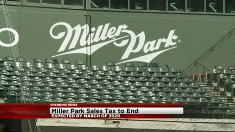 Miller Park sales tax expected to end by March 2020