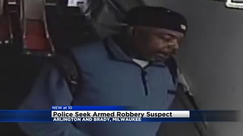 Milwaukee Police looking for armed robbery liquor theft suspect