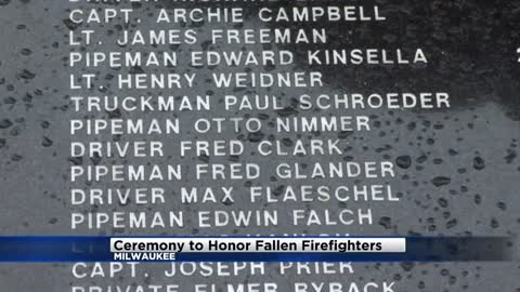 Milwaukee Fire Department remembers fallen firefighters during ceremony