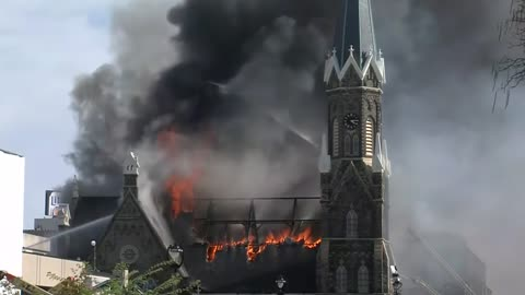Fire damage to Trinity Evangelical Lutheran Church estimated at $17 million, cause still under investigation