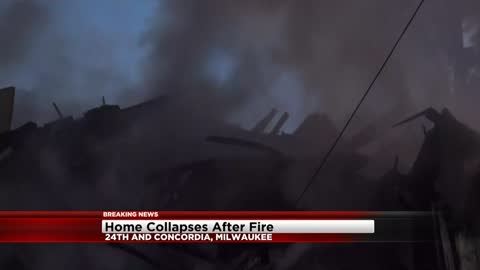 Home collapses after early morning explosion in Milwaukee