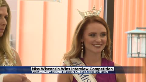 Swimsuit-less Miss America enters 2nd day of prelims, Miss Wisconsin wins interview competition