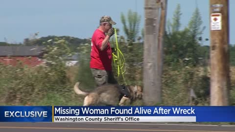 Missing woman found alive after Washington County crash, volunteer...