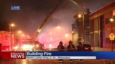 Crews respond to fire near MLK Dr. and Wright St.