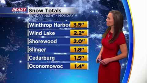Blowing snow continues with another inch possible