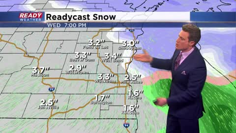 Another snow maker coming for Wednesday