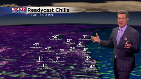 Very cold air arrives for Tuesday morning!