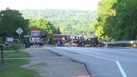 Motorcyclist seriously injured in accident with SUV in the Town of Waukesha