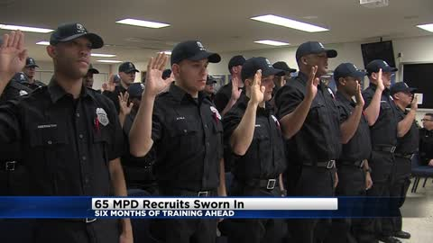 Swearing-in ceremony held for MPD recruits