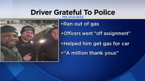 """A million thank yous:"" Man thanks MPD officers for helping him when he ran out of gas"