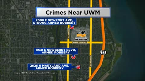 Police investigating multiple armed robberies blocks from UW-Milwaukee campus