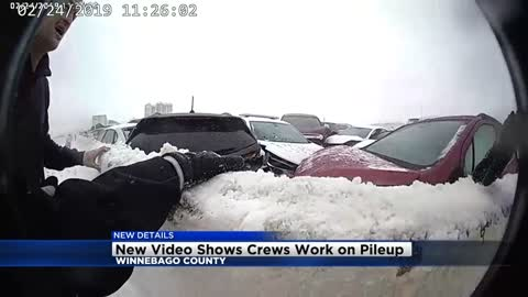 New information, video released from 130-vehicle pileup in Neenah