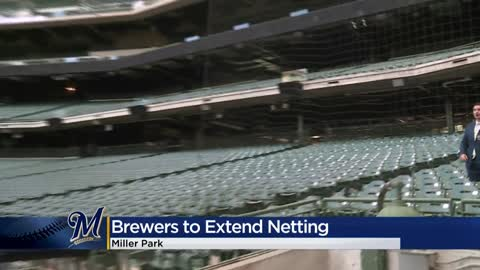 Brewers to extend protective netting at Miller Park