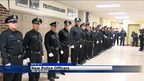New Police Officer was once homeless, celebrates graduation with dozens of recruits