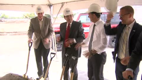Walker, Barrett attend groundbreaking for new $12 million Russ Darrow dealerships