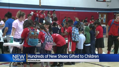 More than 1,000 pairs of new shoes donated to Milwaukee-area...