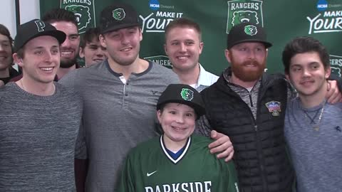 UW Parkside signs local boy diagnosed with cancerous brain tumor to baseball team
