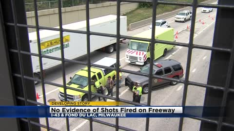 UPDATE: No evidence of shots fired after incident on I-43 at Fond du Lac Avenue