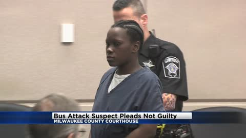 Woman accused of stabbing MCTS bus driver pleads not guilty