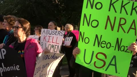 Protesters march to NRA convention in downtown Milwaukee
