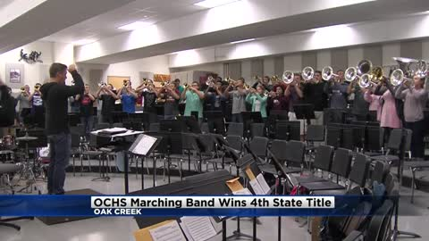 Oak Creek High School marching band wins fourth consecutive state title