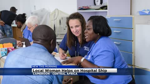 Oconomowoc nurse helping patients in Central Africa from hospital ship