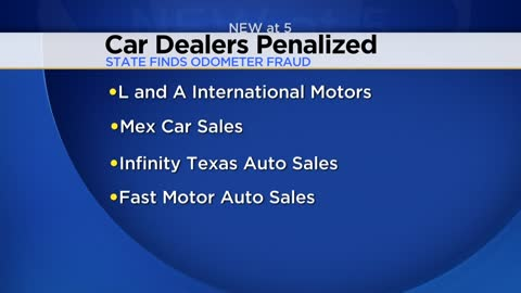 Car dealers penalized after state finds odometer fraud