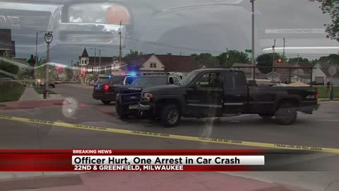 Milwaukee Police Officer hurt after squad car struck near 22nd and Greenfield