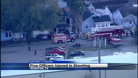The Latest: 1 of 5 officers hurt in shooting out of hospital