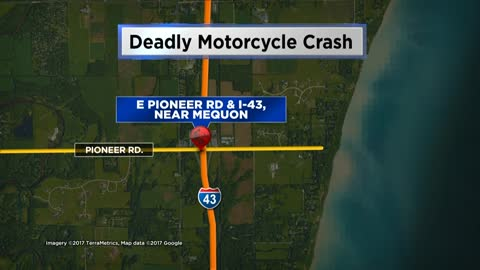 UPDATE: Motorcyclist dies after crash on I-43 near Mequon